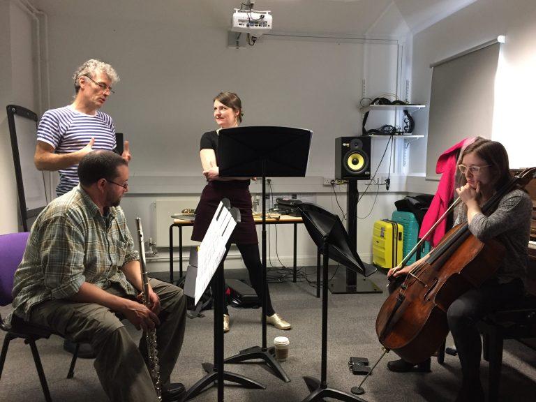 Trio Atem perform new piece by MA composers