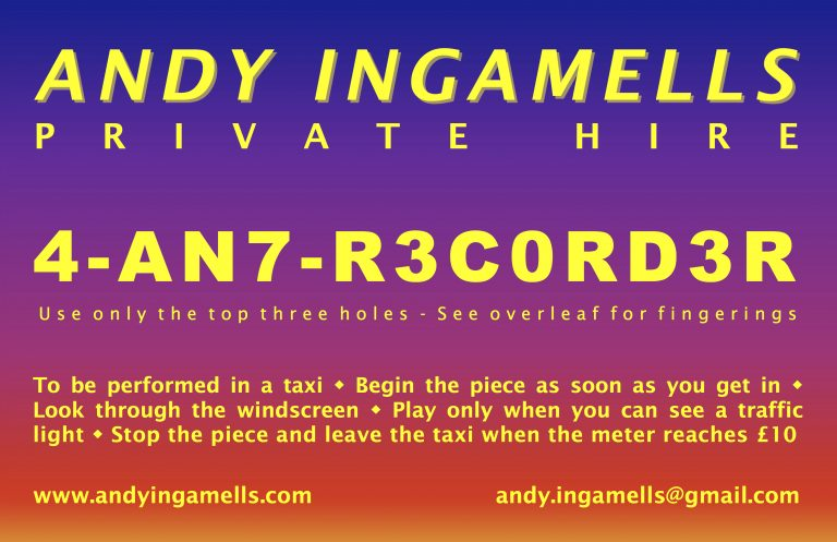 Andy Ingamells: Reading, Character and Playing (Open Scores Lab 19). Wednesday 5 December, 12-2pm (CM.107).